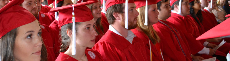 undergraduates on graduation day