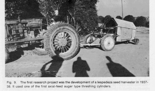 Photo: of a seed harvester the first department research project.