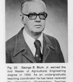 Photo of George Blum earnde his masters at BAE and also became a BAE teacher who won the university's Outstanding Teacher Award.